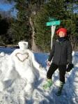 Eileen Truberman and Palomar Heart Snowman