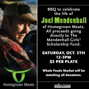 Whole Foods Matching Funds Memorial BBQ Joel