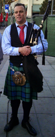 Bagpiper Ben Johnston