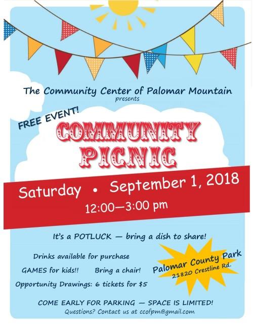 CCPM Community Picnic flier 2018