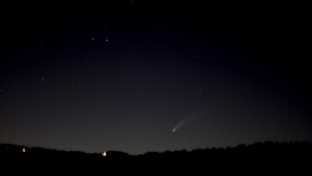 Comet from Palomar by Mike Pique
